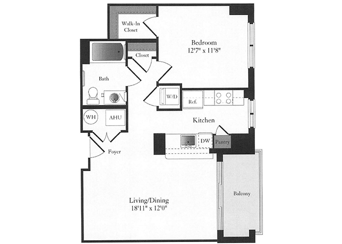 Phoenix - B6 Floorplan - 1 Bed, 1 Bath