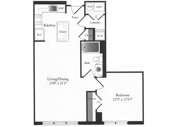 Phoenix - B7 Floorplan - 1 Bed, 1 Bath