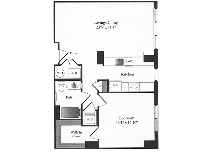 Phoenix - B9.1 Floorplan - 1 Bed, 1 Bath