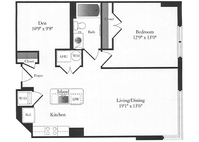 Phoenix - C1 Floorplan - 1 Bed, 1 Bath