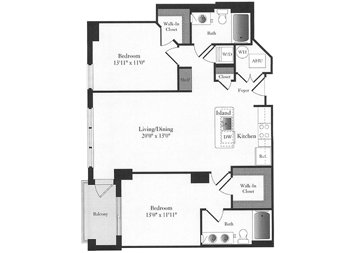 Phoenix - D3 Floorplan - 2 Bed, 2 Bath