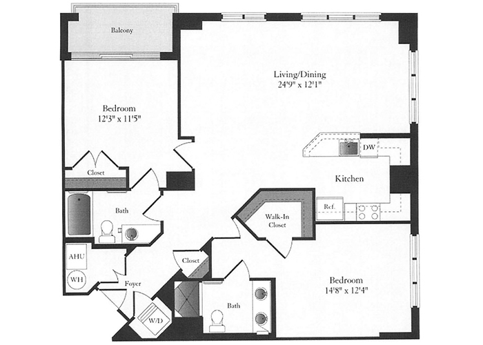 Phoenix - D7 Floorplan - 2 Bed, 2 Bath