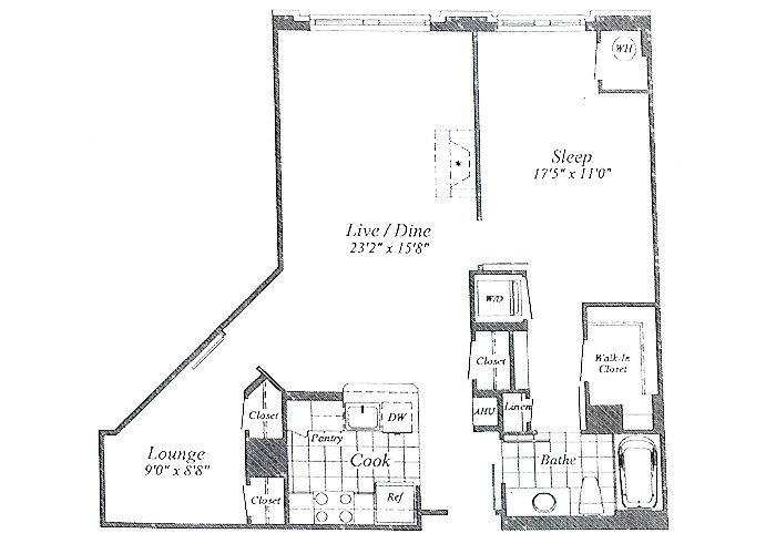 Unit B03 B1 Level Floor 1-8 One Bedroom With Lounge