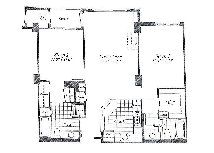 Unit C01 Floor 2-10 Two Bedroom