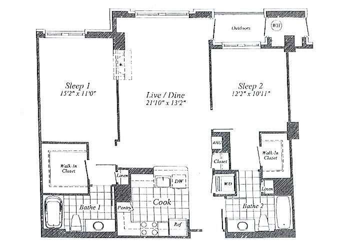 Unit C01 Floor 2-7 Two Bedroom