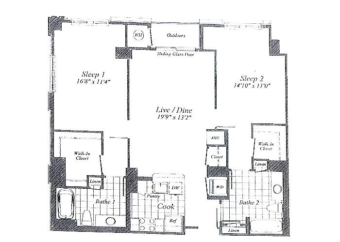 Unit C013 8th Floor Two Bedroom