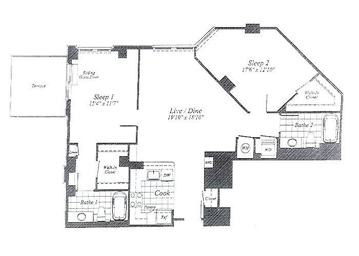 Unit C015 9th Floor Two Bedroom