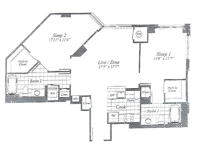 Unit C016 9th Floor Two Bedroom
