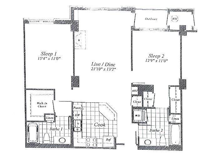 Unit C01(opposite) Floor 2-7 Two Bedroom