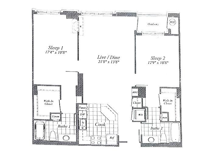 Unit C03 Floor 2-6 Two Bedroom
