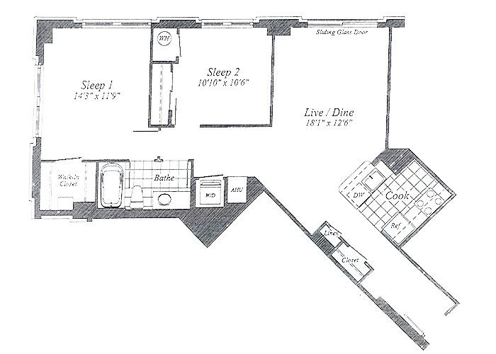 Unit C06 B1 Level Two Bedroom