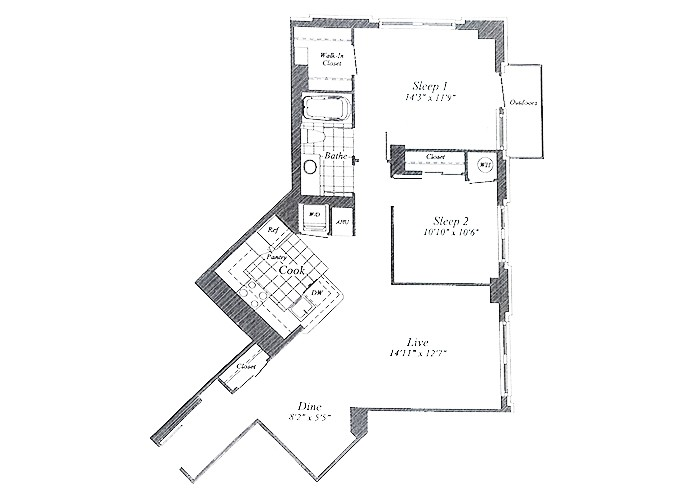Unit C06 Floor 1-6 Two Bedroom