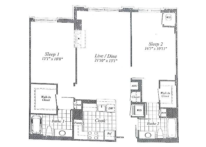 Unit C07 B1 Level & 1st Floor Two Bedroom
