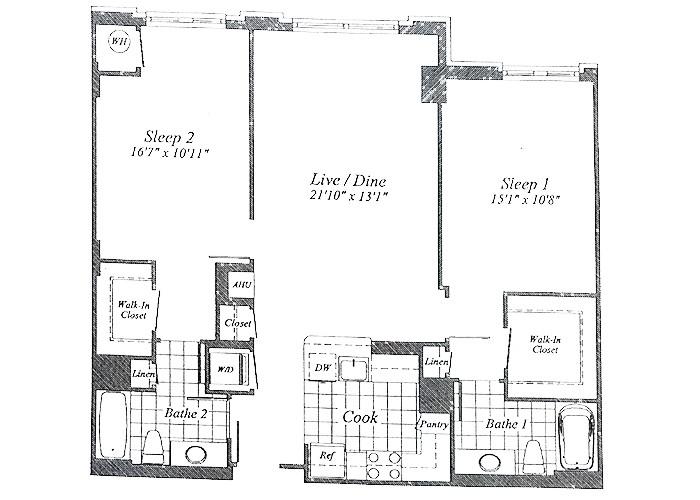 Unit C07(opposite)  B1 Level & 1st Floor Two Bedroom