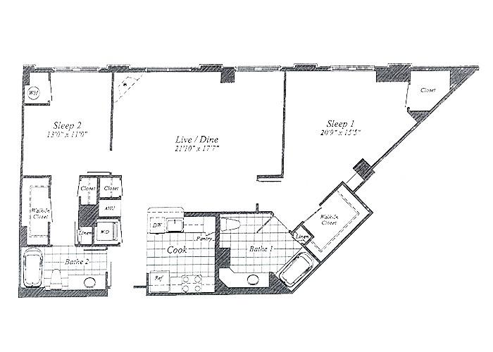 Unit C19 10th Floor Two Bedroom