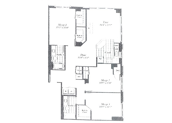 Unit D02 Floor 2-6 Three Bedroom