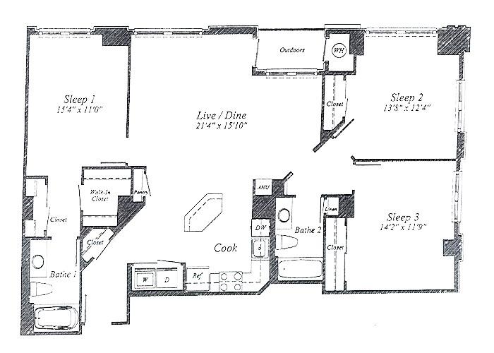 Unit D03 8th Floor Three Bedroom