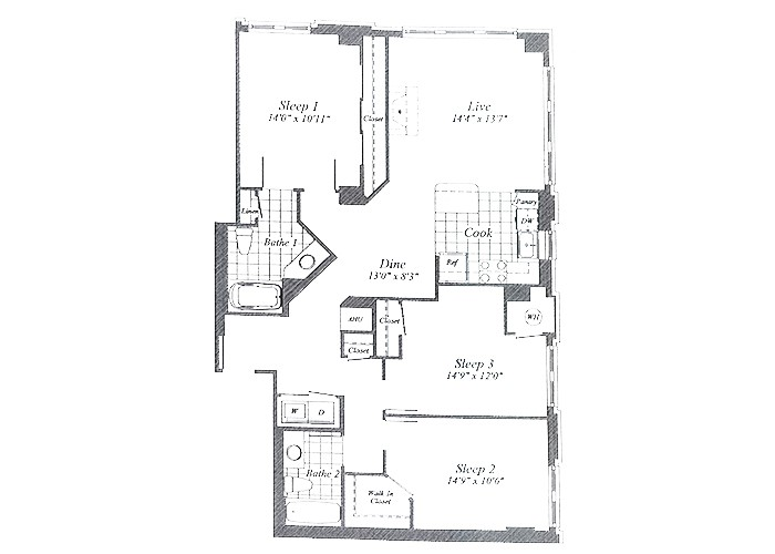 Unit D05 1st Floor Three Bedroom