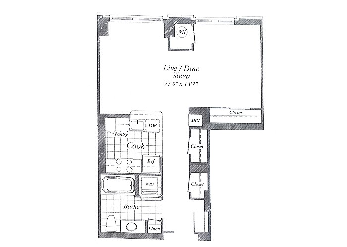 Unit E01 Floors 2-6 Studio