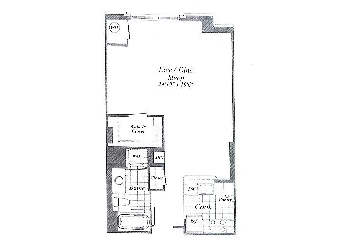 Unit E02 Floors 2-8 Studio